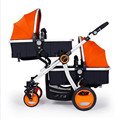Hot Mom Essential Babies Twins Strollers Four Carts Twin Baby Stroller High Landscape Kids Trolley Inflatable
