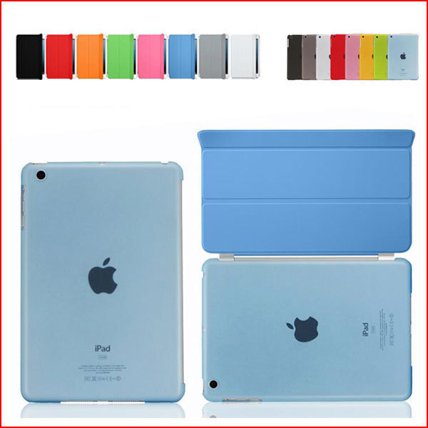 8 color ipad air/ipad 5, office Ultra Thin Magnetic Smart Case Cover + Back New Apple iPad Air 5 - BH Accessories Technology Co.,Ltd store