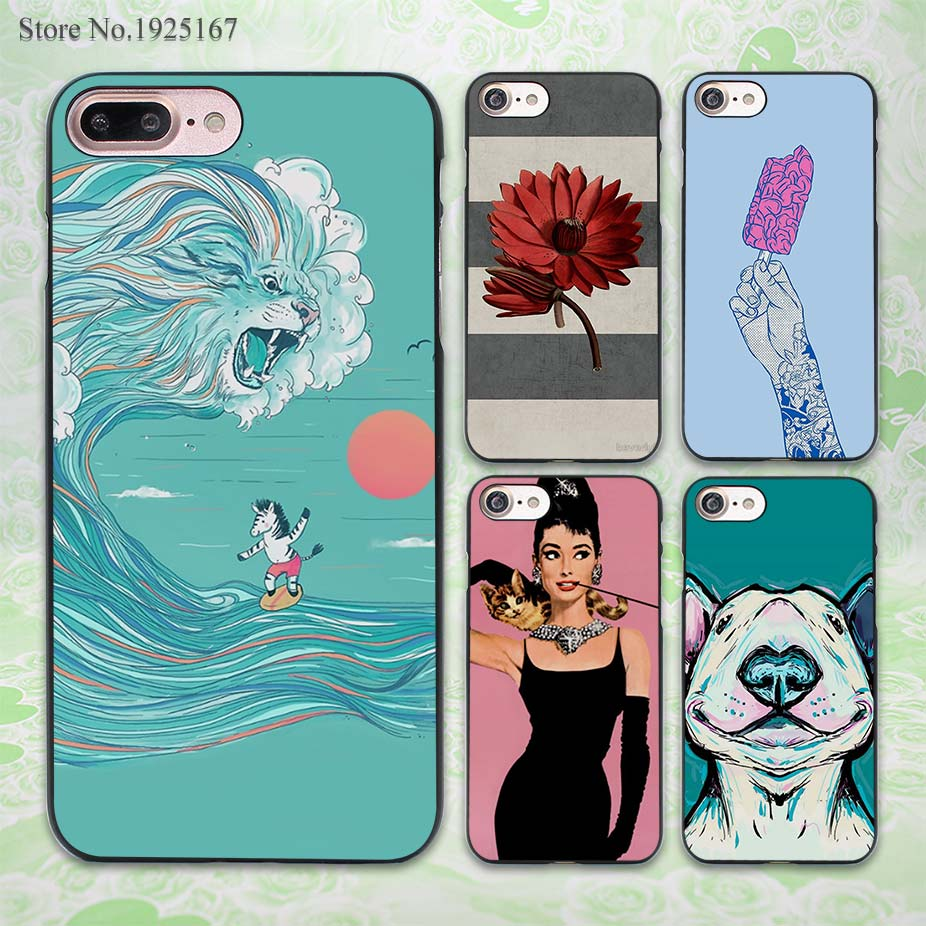 blue sesa surfing zebra design hard black Case Cover for Apple iPhone 7 6 6s Plus SE 5 5s 5c 4 4s(China (Mainland))