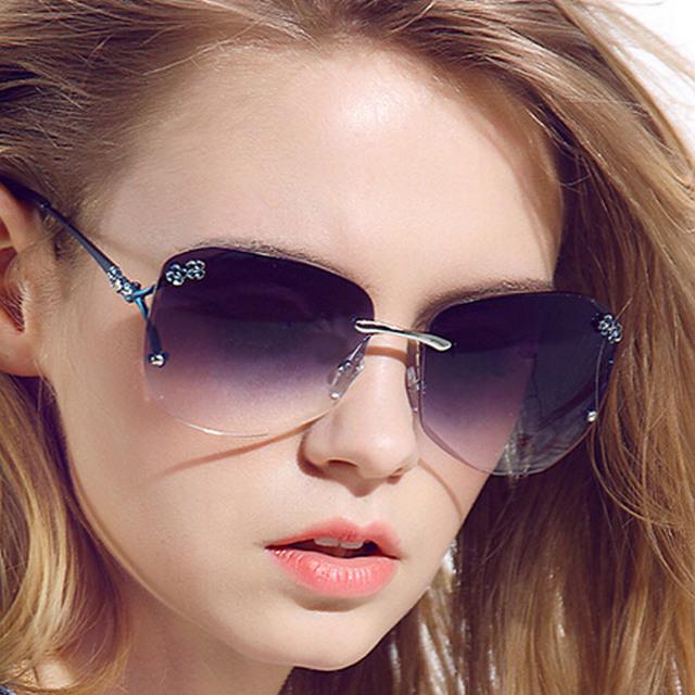 Retro Metal Frame 2015 gafas de sol para mujer de marca diseñador Vintage Retro gafas de