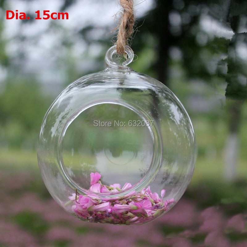 6 Different Style 15cm Glass Ball Terrarium Elegant Home Decoration Beautiful Candle Holder Creative Vase Fashion Fish Bowl(China (Mainland))