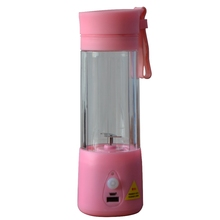 380ML Portable Electric Juice Cup Fruit Vegetable Tools Blender Water Bottle Can Be Used As Power Supply Multifunctional Juicer(China (Mainland))