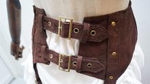 Steampunk Faux Suede Leather  Cummerbunds