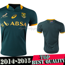 Alta calidad 2015 South Africa Rugby Jersey 14 15 sudáfrica hombres Rugby camisa camiseta de fútbol(China (Mainland))