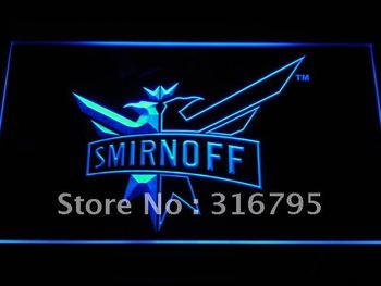 a195-b Smirnoff Vodka Wine Beer Bar LED Neon Light Sign Wholesale Dropshipping