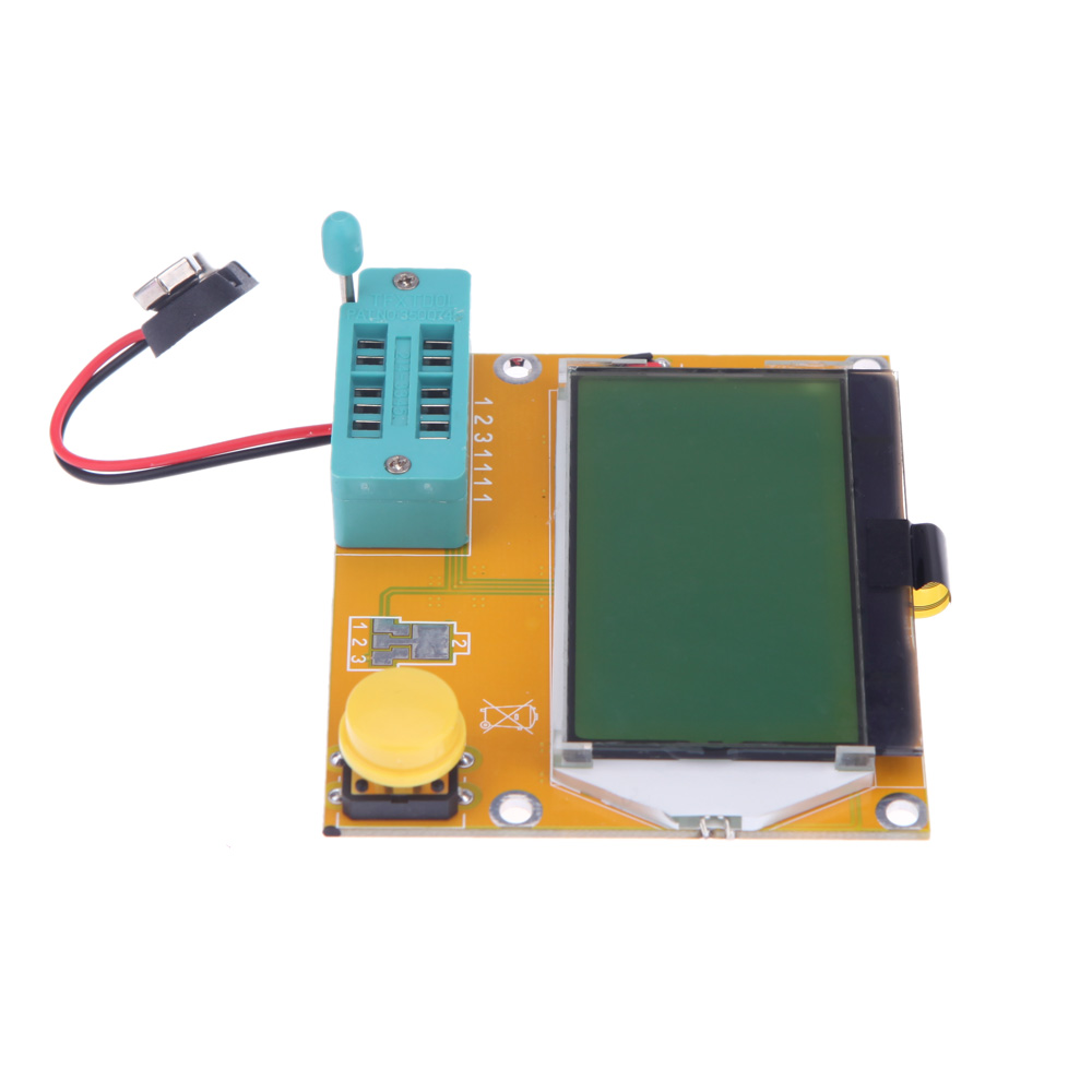 LCD Display yellow-green Backlight ESR Meter LCR led Transistor Tester 128*64 Diode Triode Capacitance MOS PNP/NPN(China (Mainland))