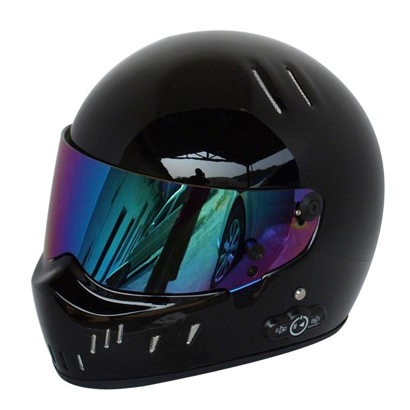 Cardin long life battery car helmet motorcycle helmet full glass steel bright black helmet ATV-2(China (Mainland))