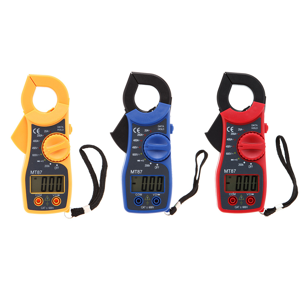 MT87 3 1/2 Digits LCD Digital Clamp Meter AC/DC Voltmeter AC Ammeter Ohmmeter Diode Continuity Tester with Data Hold Multimeter(China (Mainland))
