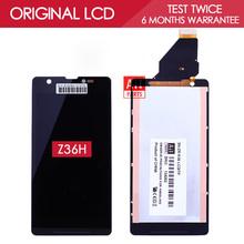 100% Испытанное в Исходном 4.6 дюймов 1280x720 Дисплей Для SONY Xperia ZR M36h C5502 C5503 ЖК-ДИСПЛЕЙ с Сенсорным Экраном Дигитайзер Ассамблеи(China (Mainland))