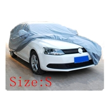 Car covers Size S/M/L/XL SUV L/XL Waterproof Full Car Cover Sun UV Snow Dust Rain Resistant Protection Gray SUV car cover(China (Mainland))