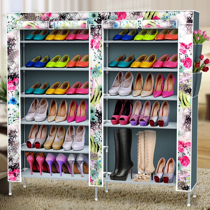 Фотография Youpin simple dust shoe rack bedroom dormitory multilayer oxford storage Specials