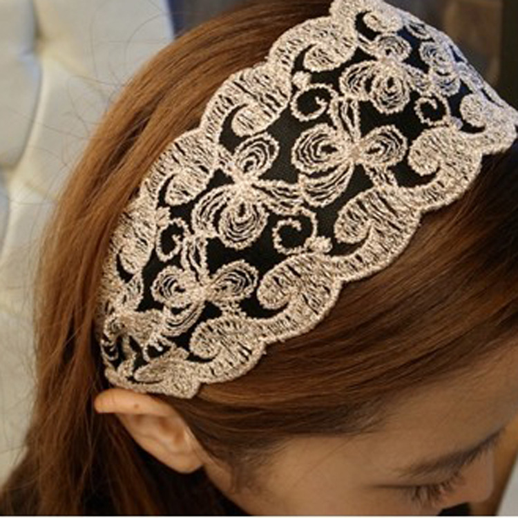 Lace fashion elegant and lovely temperament hair accessories headband Korean edition card(China (Mainland))