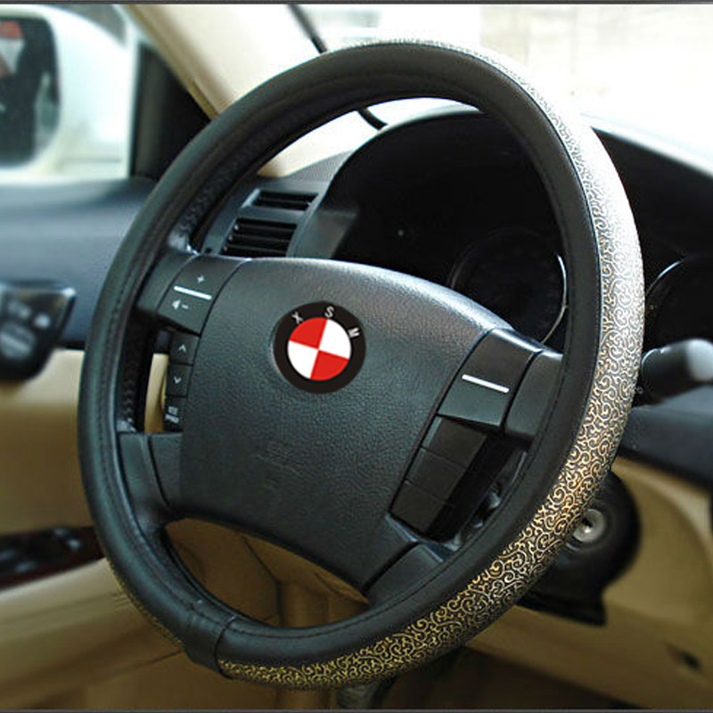 Volante Esportivo Genuine Leather Steering Wheel Cover Summer Viscose Carved Car Steering Wheel Cover Auto Supplies Exhaust Pipe