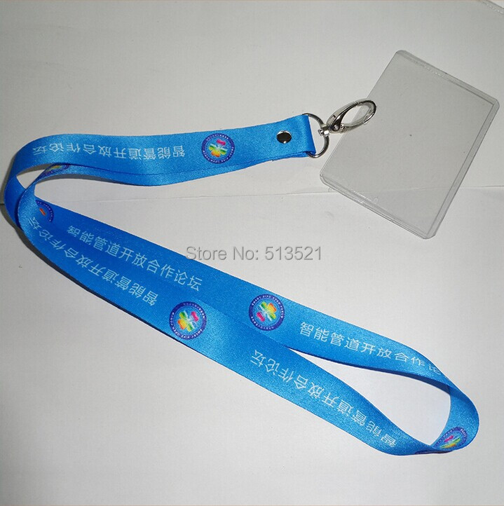 500PCS/Lot Customized Heat transfer Printed Polyester Custom Rivet Lanyard With Ovall hook and Badge Holder L0115(China (Mainland))