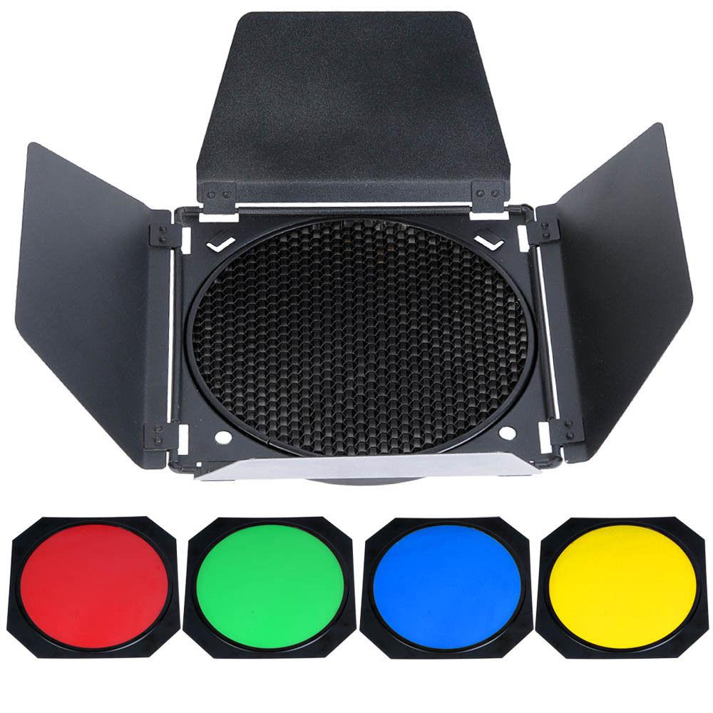Здесь можно купить  Godox Barn Door Honeycomb Grid with 4 Color Gel Filter for Standard Reflector Godox Barn Door Honeycomb Grid with 4 Color Gel Filter for Standard Reflector Бытовая электроника