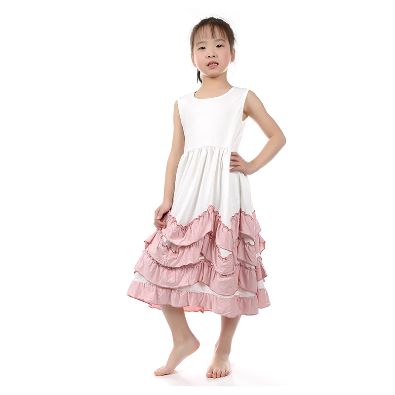 One Piece Girls Party Dresses Kids Maxi Dress 2016 Baby Boutique Clothing Kids Clothes Flower Girl Dress Children's Dresses(China (Mainland))