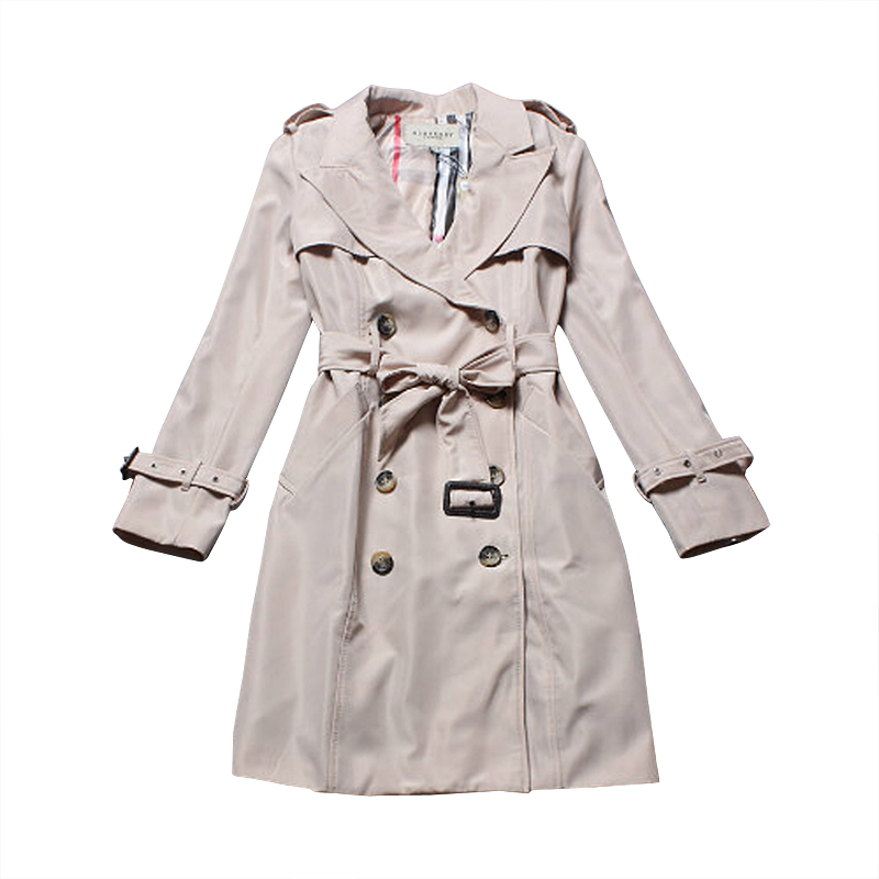 Fashion   Brand Autumn Winter  Women Long Trench Coat Double Breasted Plus Size Khaki Slim Fit Outerwear With SashesОдежда и ак�е��уары<br><br><br>Aliexpress