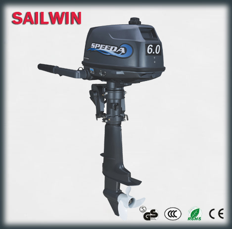 Free Shipping Promotion and Hot Selling Water Cooled 2-stroke 6hp marine engine outboard motor for boats(China (Mainland))