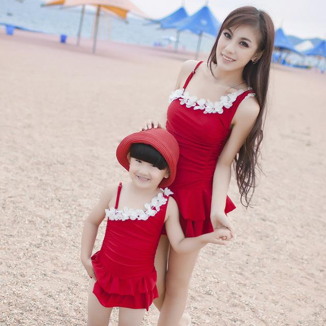 Escena Del Baño One Piece:Niñas bebés trajes de baño traje de baño del niño madre e hija