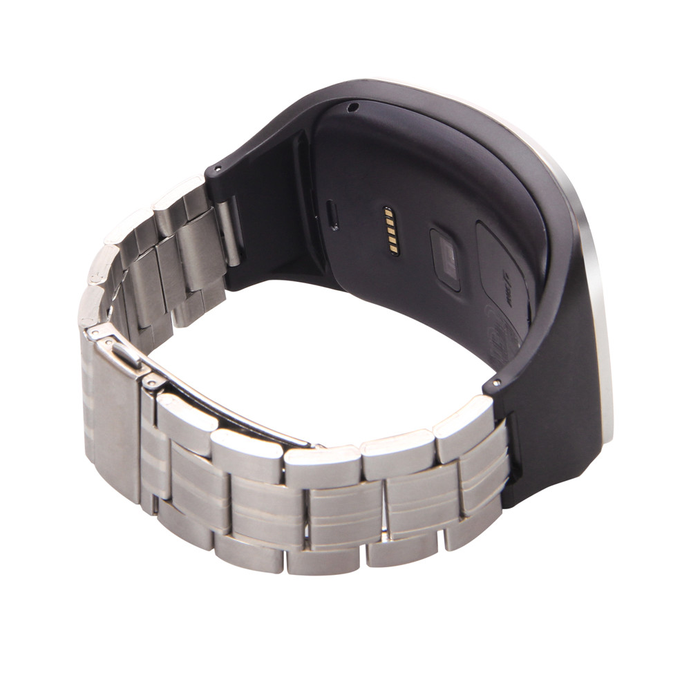 Adjustable metallic Replacement Wristband Fitness Bracelet Strap For SAMSUNG GALAXY Gear S R750 Steel Wrist Band