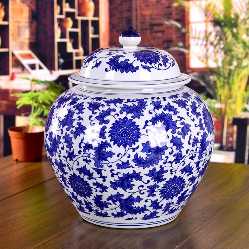 Jingdezhen ceramic ginger jars Antique Porcelain temple jars ceramic chinese ginger jar(China (Mainland))