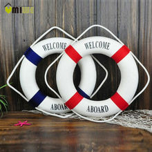 Buy Umiwe 3 Size Navy Style Lifebuoy Nautical Welcome Aboard Sign Home Decor Decorative Life Ring Room Bar Home Decoration for $3.99 in AliExpress store