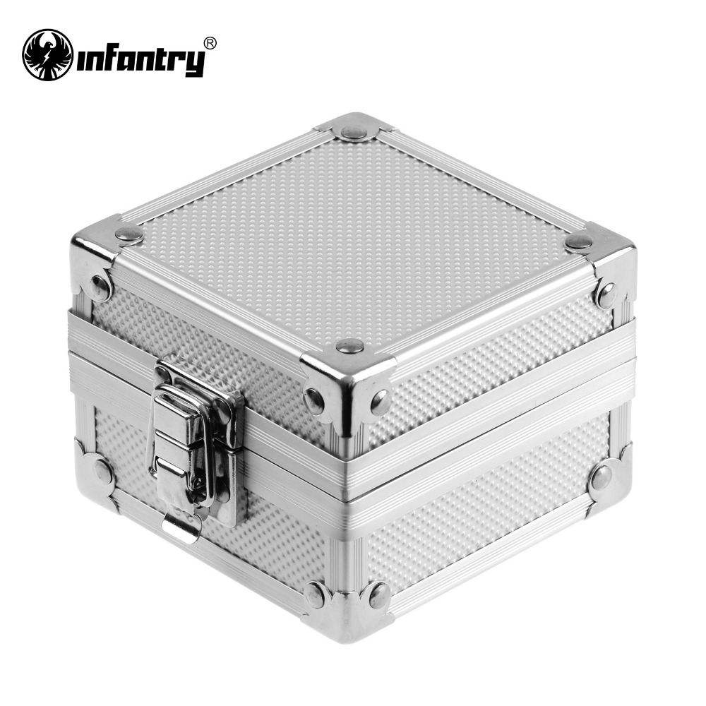Infantry Fashion Fancy Silver Aluminum Watch Bracelets Display Box Show Cases Gift Boxes New(Hong Kong)