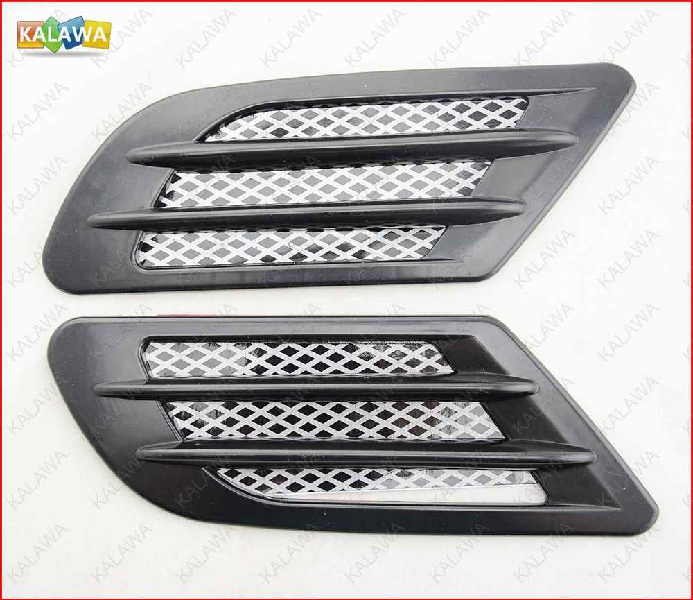 New one pair ABS Car Air Flow Vent Net Adornment Car simulation wind mesh car side sticker CZC-697 free shipping~GGG(China (Mainland))