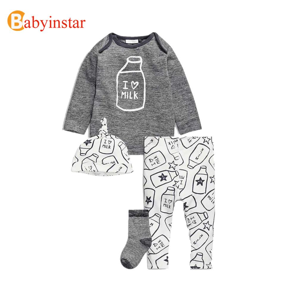 New Baby Boy Clothes Minnie Infants Clothing Set Casual Toddlers Children Set High Quality Cotton Tops Shirt + Pants+Hat(China (Mainland))