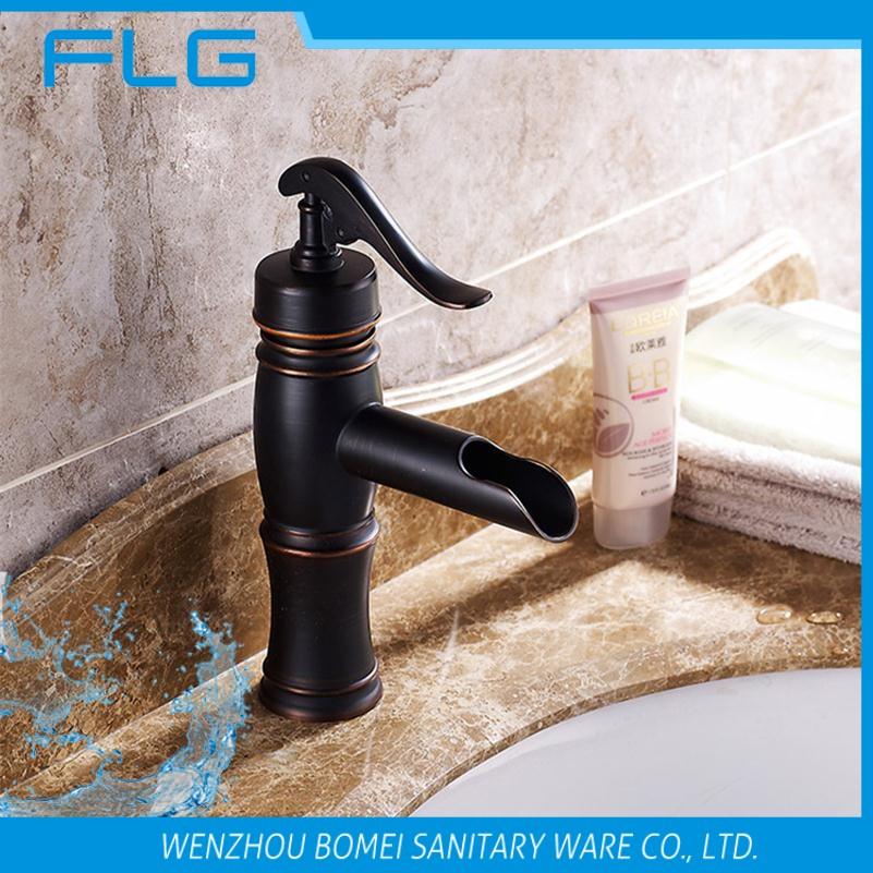 Envío Libre Caliente/Frío Negro Grifo Del Fregadero Mezclador de Baño Bath Tap Vessel GRIFO Babmoo Grifo(China (Mainland))