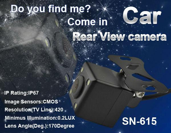 Universal 170 degree wide view angle and HD night vision car Rear View Camera backup Camera With 4 LED(China (Mainland))
