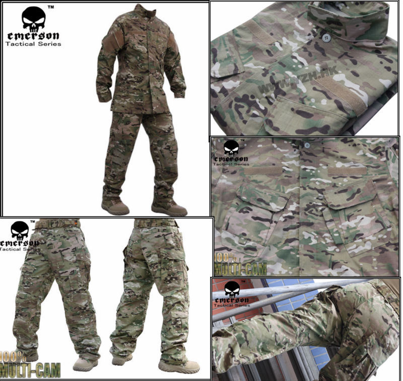 Army Military Uniform EMERSON bdu R6 perfect version multicam combat airsoft camouflage uniform Suits EM6889(China (Mainland))