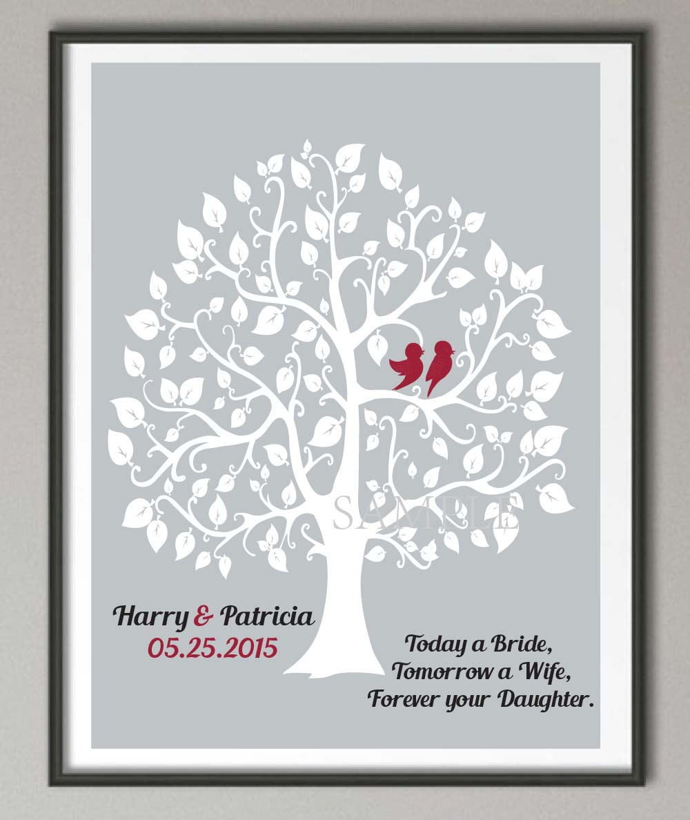 Parent Wedding Gift Quotes : Grooms Parents Wedding Gift Family tree quote wall art poster print ...