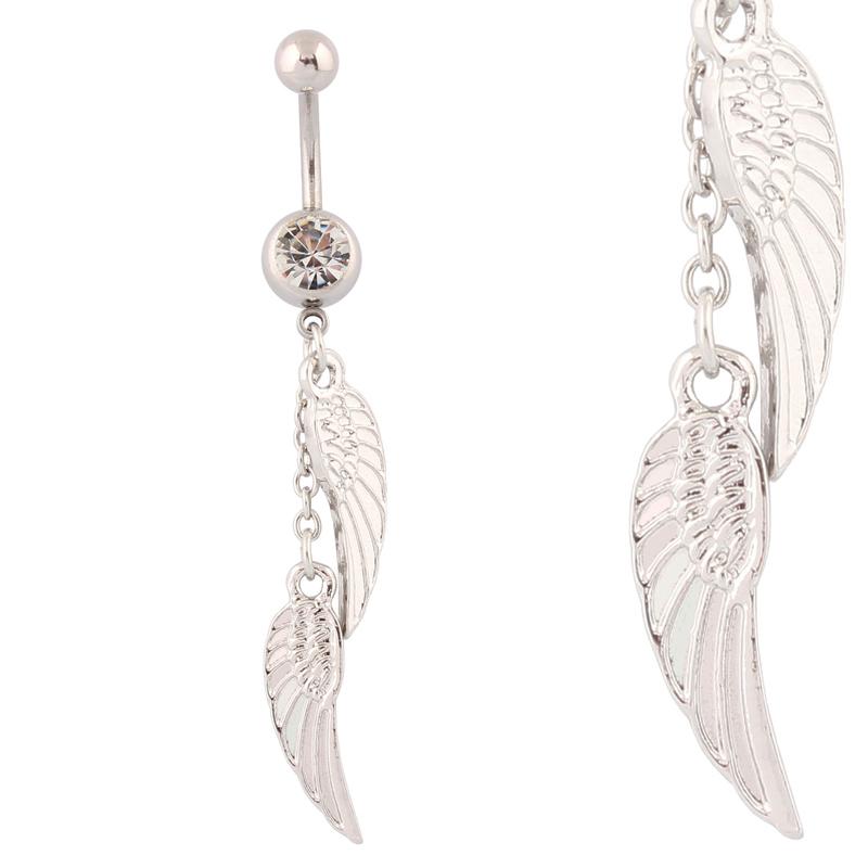 aliexpress buy belly button rings dangle wings