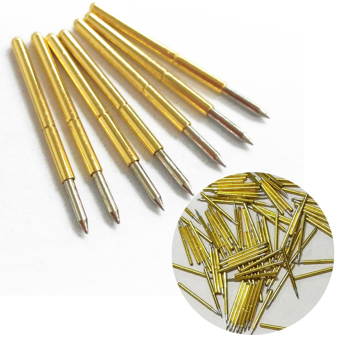 50Pcs P75-B1 Dia 1.02mm 100g Cusp Spear Spring Loaded Test Probes Pogo Pins;