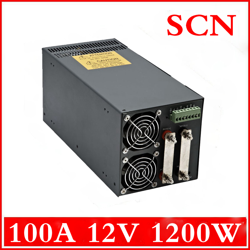 1200W 100A 12V Single Output Switching power supply AC to DC 110V or 220V(China (Mainland))
