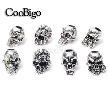 10pcs Skull Beads Paracord Bracelet Knife Lanyards Zipper Pull Molle Tactical Backpack Travel Kits #FLQ077/78/79/80-S(Mix-s)(China (Mainland))