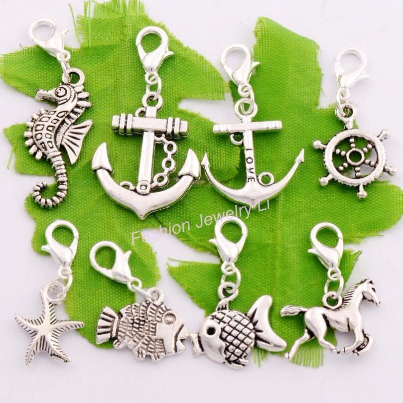 Bow Angel Sterling Silver Charm with Engraving on Lobster Clasp Owl Star etc
