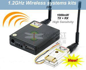 LawMate TM121800 1.2GHz 1000mW 8Ch Wireless Video Transmitter and Receiver Combo(China (Mainland))