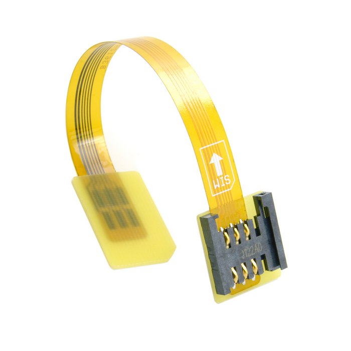 GSM CDMA Standard UIM SIM Card Kit Male to Female Extension Soft Flat FPC Cable Extender 10cm EP-084(China (Mainland))