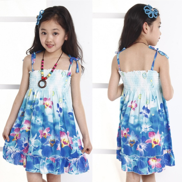 Kids Boho Clothes Wholesale Baby Kid Girl Princess Dress