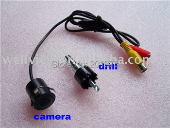 Mini Waterproof  Car Reversing Camera with diameter18.5MM,wide view angle