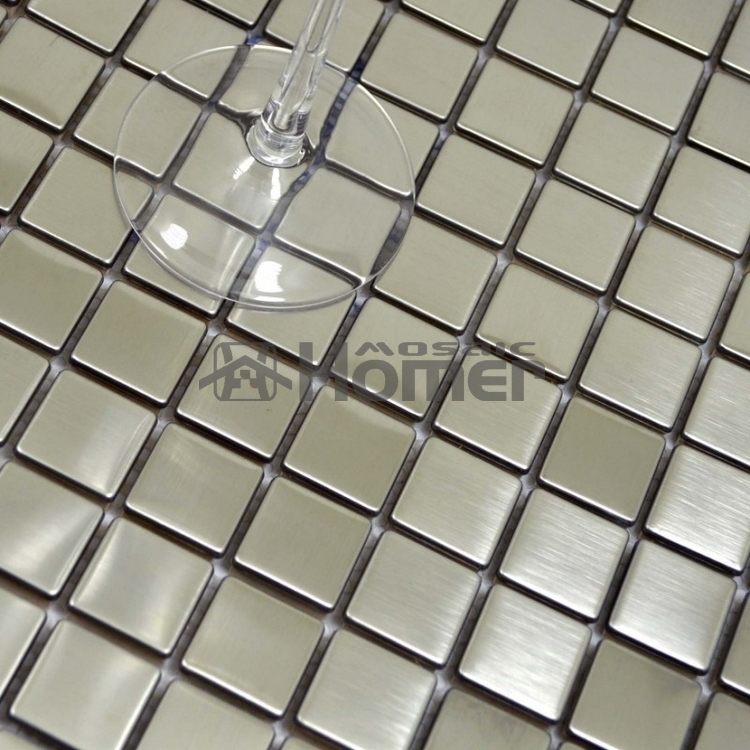 free shipping 25mm square tile silver drawbench stainless