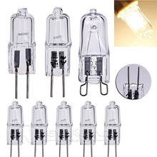 1Set 10pcs 12V G4 10W / 20W Halogen Capsule Transparent replacement Light Lamp Bulb Warm White wedding party decoration(China (Mainland))