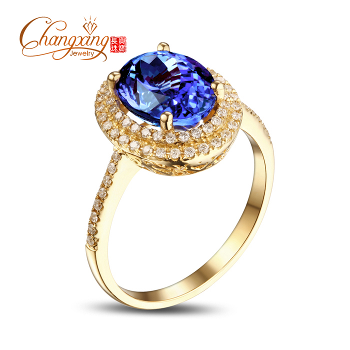 7x9mm Oval Violet Blue Tanzanite .33ct Diamonds 14k Gold Engagement Wedding Ring<br><br>Aliexpress