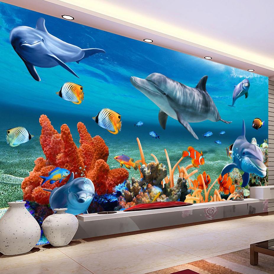 Ingrosso di alta qualità acquario wallpapers da grossisti acquario ...