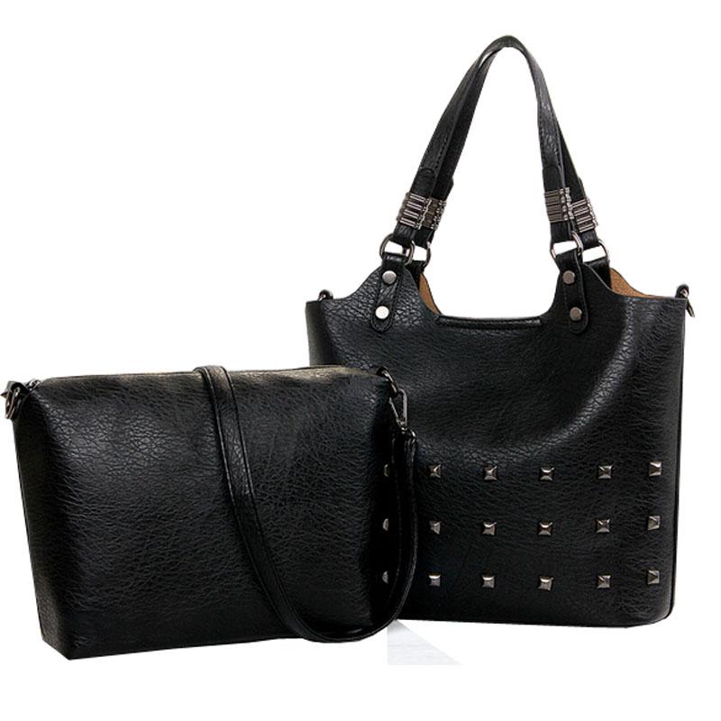 rivet crossbody bag female leather handbags vintage women shoulder bags casual ladies messenger bag designer women handbag tote