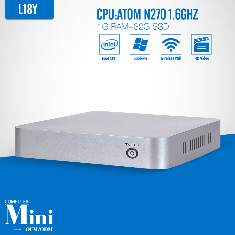 XCY L-18Y N270 1G RAM 32G SSD WIFI mini linux computers support wireless network 1.6GHZ thin computer(China (Mainland))