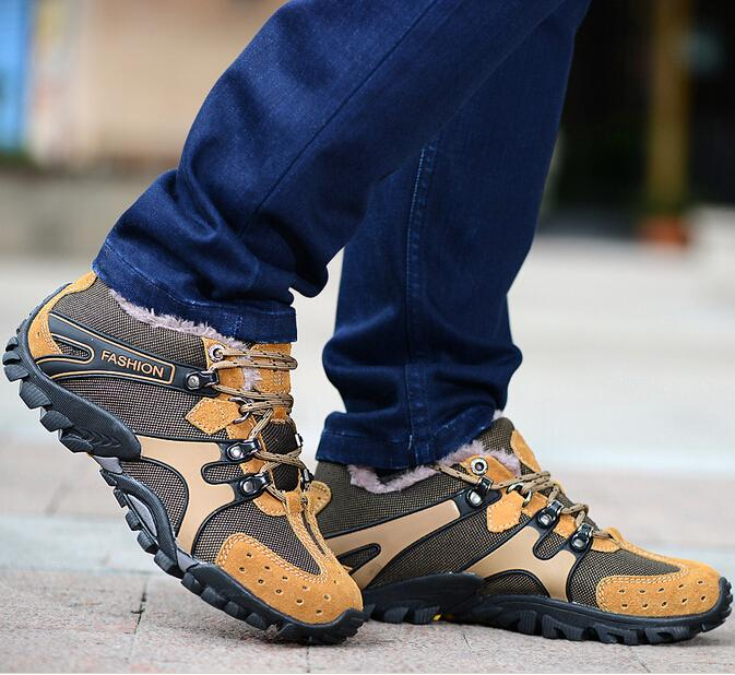 Plus Size 38-46 Male Winter Cotton Padded Ankle Shoes Men Brand Cow Suede Lace Up Snow Boots Outdoor Anti Slip Working Boots 148(China (Mainland))