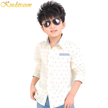 2016 NEW boys autumn long sleeve shirts dot print children casual dress shirts beige & navy colors boy formal clothing, C237(China (Mainland))